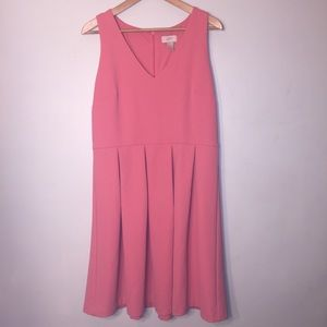 LOFT pink 12 sleeveless dress